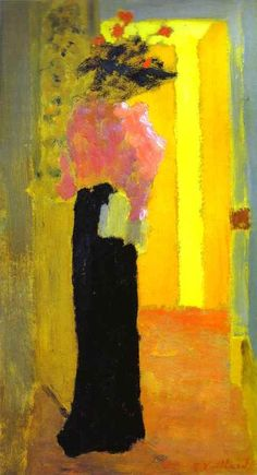 Edouard Vuillard, L'Elégante, 1891. awesome colors.
