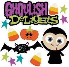 Ghoulish Delights SVG Scrapbook Collection halloween svg files for scrapbooking vampire svg file