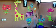 Decoración de un cuarto de juegos con los vinilos infantiles de Bebabe.es