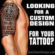 tattoo designer, custom tattoos, online tattoos, juno tattoos