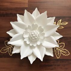 New Paper flower template design from The Crafty Sagittarius