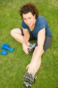 Calf stretch for restless leg syndrome.