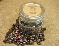 Wedding Coffee or Tea Favors - Vintage Cup Design Mason Jar Wedding Favors - 20 Eight Ounce Square Mason Jars on Etsy