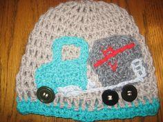 cement mixer crochet hat for cancer patient