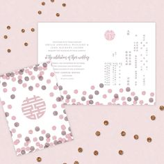 We believe Chinese invitations need not be all red and traditional. It can be fun and modern and still suits your wedding color palette. Our Happy Dots duo language card that lets Bride and Groom to not please their families and themselves. Who say you can't have the best of both worlds.   #sginvites #ndscollection2016 #modernchineseinvites