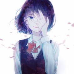 """""""I've come to realize how hollow I am on the inside"""" — Hanabi (Anime: Kuzu no Honkai 💙) . Sad Anime Girl, Kawaii Anime Girl, Anime Art Girl, Kuzu No Honkai Hanabi, Scums Wish, Otaku, 5 Anime, Another Anime, Cute Anime Couples"""
