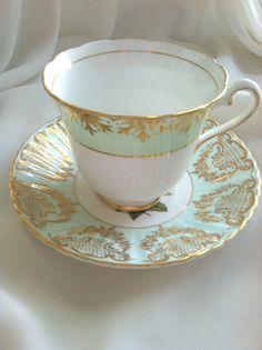 Rosina/Paragon Fine Bone China Tea Cup & Saucer by MariasFarmhouse, $55.00