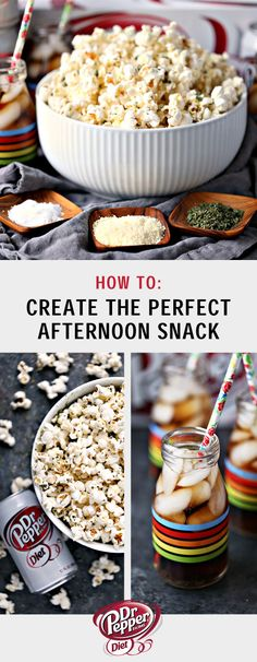 What's the recipe for the perfect afternoon snack? Homemade Parmesan Popcorn and Diet Dr Pepper of course! If you need a light afternoon pick-me-up, make sure to save this combo. Find all the ingredients you'll need to whip up this easy sweet and salty idea at Jewel-Osco. Plus, you won't believe how delicious the savory seasonings pair with the sweet taste of Diet Dr Pepper!
