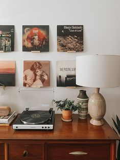 My Favorite Lightroom Presets Record Display, Record Wall, Home Focus, Table Lamp Base, Soothing Colors, Close To Home, Cozy Room, Living Room Decor, Dining Room