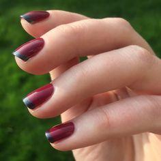 Modern French Manicure using Zoya Veronica and Freja