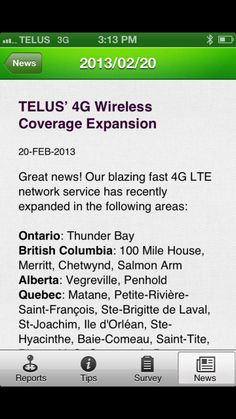 Problems with Telus mobility? There is an app for that. - http://www.hometechmtl.com/2013/02/20/problems-with-telus-mobility-there-is-an-app-for-that/ - http://i1.wp.com/www.hometechmtl.com/wp-content/uploads/2013/02/IMG_0117.png?fit=640%2C640 - Have you ever driven through a dead spot where your cell phone audio drops off, or have dropped a call outright, or just had marginal quality. Did you think I should report that so the carrier can fix it but never get ar