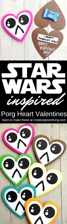 Get the free printable template for these DIY Star Wars inspired valentines day cards for kids. The cute pun is funny and adorable and perfect for all your friends who fell in love with the porgs in Start Wars the Last Jedi.