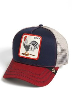 Ask me about my big fat cock hat. Goorin Brothers 'Animal Farm - All-American Rooster' Trucker Hat | Nordstrom
