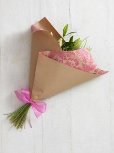 Tie Ribbon on Completed Presentation Bouquet