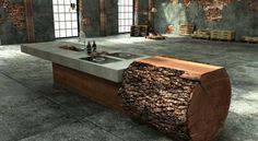 Baumstamm Tisch – super originelle Designs!