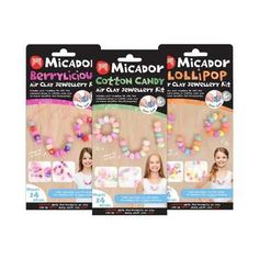 Micador Air Clay Berrylicious Jewellery Kit Multicoloured