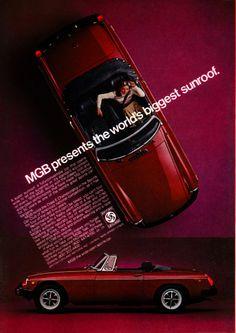 MGB Ad - The World's Biggest Sunroof, 1976