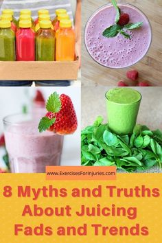 8 surprising myths and facts of juicing!! Nutrition Tips, Fitness Nutrition, Health Tips, Health And Wellness, Healthy Food List, Healthy Habits, Healthy Recipes, Eating Healthy, Natural Detox