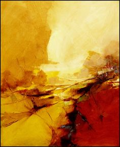 5 aout 2012 by Malahicha on DeviantArt Landscape Artwork, Abstract Landscape Painting, Abstract Canvas Art, Yellow Painting, Contemporary Paintings, Painting Inspiration, Fine Art, Bothy, Deviantart