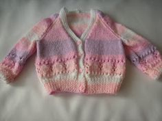 Knitting Galore: Pretty In Pink Baby Cardigan