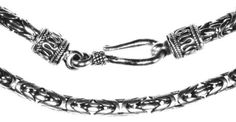 Sterling Silver Balinese Byzantine Chain Necklace WildSilverDesigns. $168.13. Save 56% Off!