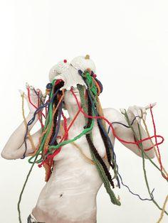 Freaks, weird fashion mask by Marion Parfait.  http://cargocollective.com/marionparfait https://www.facebook.com/marion.parfait.1?refid=17&_ft_=app_id.2309869772 http://issuu.com/marionparfait