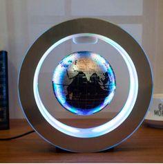 Led Globe Lights, Globe Lamps, Support Telephone Bureau, Lampe 3d, Floating Globe, Magnetic Levitation, Novelty Lighting, Map Globe, Lumiere Led