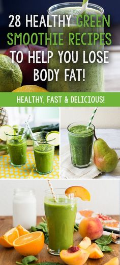 Here we have collected 28 amazing and great tasting (important too! - Here we have collected 28 amazing and great tasting (important too!) green smoothie recipes from so - Healthy Green Smoothies, Green Smoothie Recipes, Healthy Drinks, Healthy Recipes, Healthy Food, Nutrition Drinks, Vitamix Recipes, Juice Recipes, Drink Recipes