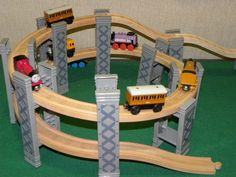 BRIO/ELC SPIRAL ELEVATED PLAYSET includes TRACKS for THOMAS WOODEN TRAIN set