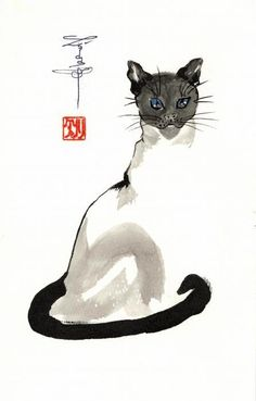 Siamese Cat Poster By Linda Smith