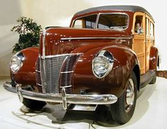"1940 Ford  ""Woodie"". Those were the days; when you had an accident, you needed a good carpenter more than a mechanic. Those were the days of motor vehicles, not cars!"