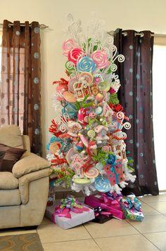 decoracion con tela arboles navidenos - Buscar con Google