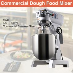 Commercial Dough Food Mixer 15Qt 3 Speed 600W Pizza Bakery Multifunction Blender · $512.06 Pizza Dough Mixer, Kitchen Aid Mixer, Espresso Machine, Coffee Maker, Bakery, Ebay, Commercial, Food, Play Dough