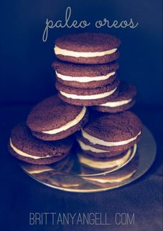 Paleo Oreos! (Gluten/Grain/Egg/Dairy/Coconut Free) #diet #paleo #cookies #food #recipes paleoaholic.com