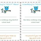Use these to send a positive note home with your students. These notes go along with the Student Information and Parent Communication Log that I ha...