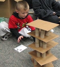 Angry Birds--build a tower with one tier (then 2, then 3, up to 5) & knock down with ping pong balls