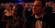 And although they didn't walk the carpet together, Alicia Vikander and Michael Fassbender made sure they spent some quality Valentine's time together inside the building. | Celebrity Couples Celebrated Valentine's Day This Year By Attending The BAFTAs