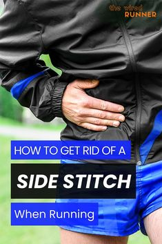 Side stitches are a common running injury. We'll discuss how to get rid of a side stitch while running. Race Training, Triathlon Training, Half Marathon Training, Marathon Running, Running Training, Ironman Triathlon, Strength Training, Running Routine, Running Workouts