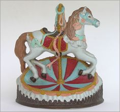 The Vintage Wall - Painted cast iron carousel horse doorstop, Vintage Antiques, Vintage Items, Painted Pony, Doorstop, Door Stopper, Carousels, Carousel Horses, Iron Doors, Vintage Walls
