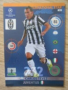 Sponsored - Champions League International Star card - Carlos Tevez of Juventus Champions League, Trading Cards, Jeep, Fan, Baseball Cards, Stars, Best Deals, Shopping, Planes