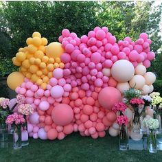 Ideas Bridal Shower Decorations Balloons Photo Booths For 2019 Balloon Backdrop, Photo Booth Backdrop, Balloon Wall, Balloon Garland, Balloon Decorations, Birthday Decorations, Photo Booths, Backdrop Ideas, Photo Backdrops
