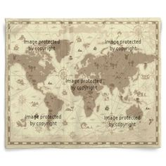Vintage map of the world 1799 throw blanket on cafepress ancient world map double layer fleece blanket 50x60 at httpvisionbedding gumiabroncs Gallery