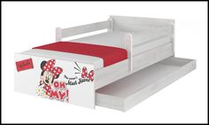 Disney children's bed Minnie Oh My – Kiddymill Minnie Mouse Bedding, Magical Room, Childrens Desk, Mattress Frame, Bed With Drawers, How To Make Bed, Kid Beds, Cot, Kids Bedroom