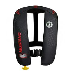 Mustang MIT 100 Inflatable Manual PFD - Black/Red