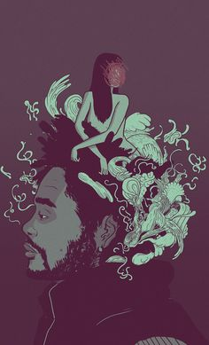 The Weeknd by Rob Cham in Illustration