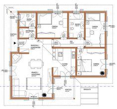 Piantina casa 100 mq case unifamiliari nel 2019 for Planimetria casa tradizionale giapponese