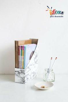 ¡Realiza un hermoso revistero con material reciclado!#DIY