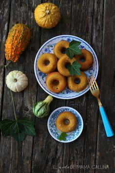 Donuts integrales de calabaza y espelta