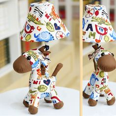 Cottage rustic child real table lamp fabric lovely animal kids room cottage rustic child real table lamp fabric lovely animal kids room bedroom bedside dimming table light aloadofball Gallery
