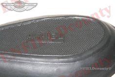 New Black Rubber Left Right Knee Pad Set Ariel Logo Script Embossed